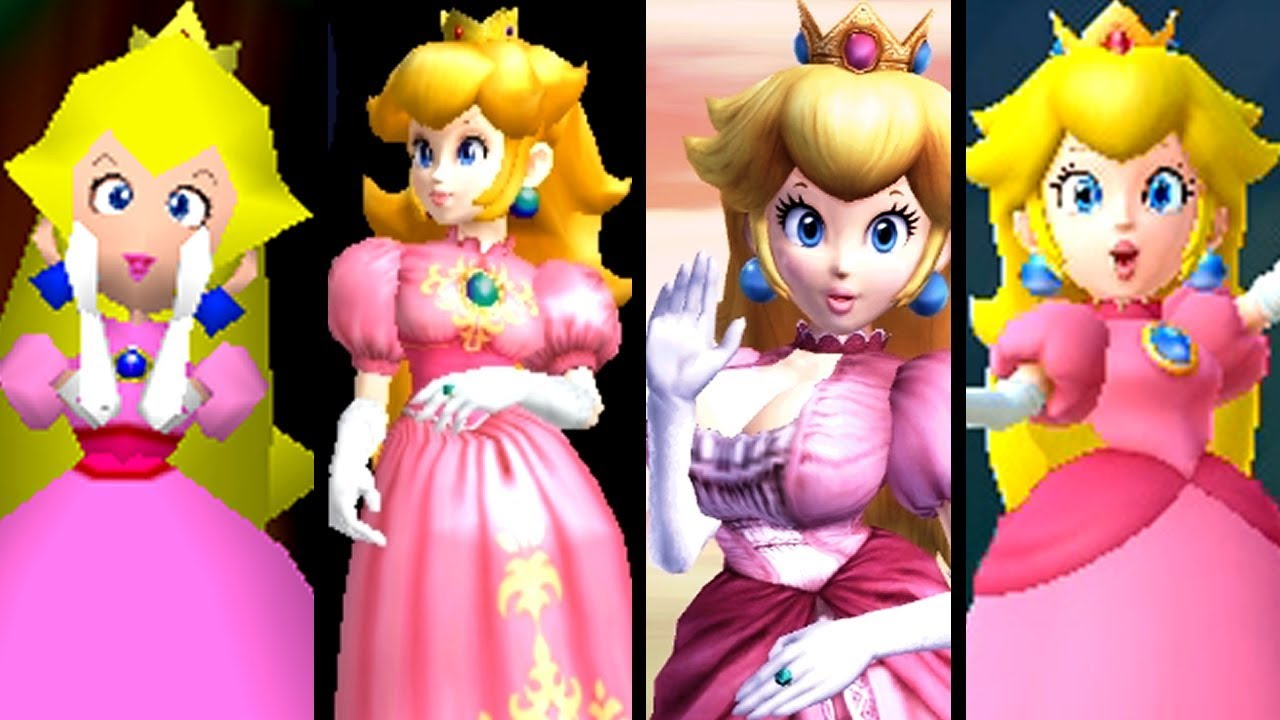 Super Mario Evolution of PEACH WINS By Doing Absolutely NOTHING (N64 to Switch)