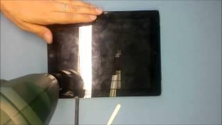 Снимаем разбитое стекло с apple iPad 3. Процесс разборки iPad 3