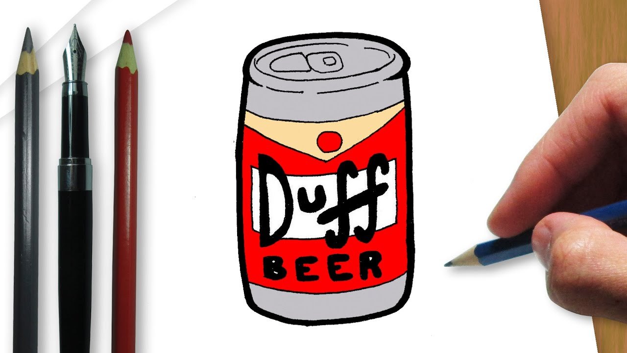 Botella De Cerveza Dibujo: How To Draw A Duff Beer From The Simpsons