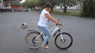 Уроки езды на велосипеде. Велошкола Vzagali. Людмила 07.2016