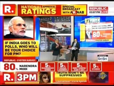 Republic - National Approval Ratings - 3 years of Modi government (featuring G Parthasarathy)