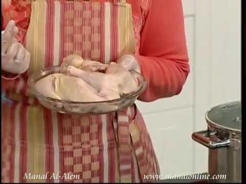 طريقة سلق الدجاج - مطبخ منال العالم