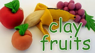 how to make clay fruits