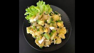 Картофельный салат с авокадо и яйцом | Рецепт с сумахом
