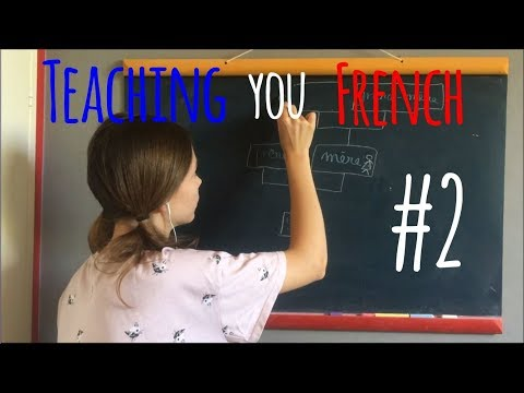 ASMR   RP: soft spoken French lesson on black board 2