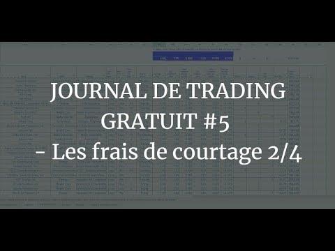JOURNAL DE TRADING GRATUIT #5 - Les frais de courtage 2/4 1