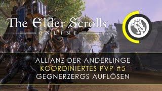 Elder Scrolls Online PS4 - koordiniertes PVP #5 Übung - gegnerische Zergs auflösen   deutsch