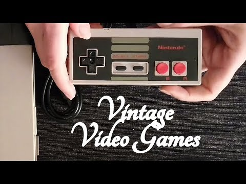 ASMR Vintage Video Games Sales Role Play (NES/Megadrive/SNES/Saturn/PS1/N64) ☀365 Days of ASMR☀