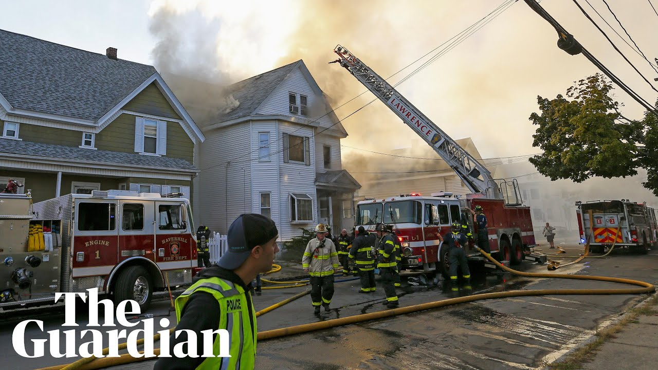 Boston explosions: homes burn after multiple gas blasts – video