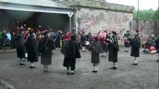Lockerbie Pipe Band at Hoddom Castle Caravan Park, 2