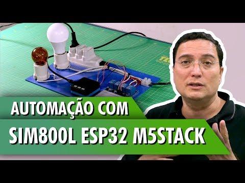 Automação com SIM800L ESP32 M5Stack