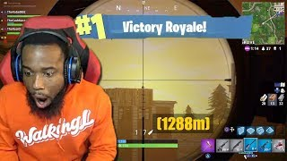 MY LONGEST SNIPER SHOT EVER! RECORD BREAKING! CLUTCH GAME Winning Kill! Fortnite Battle Royal