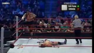 CM Punk Vs  Umaga Samoan Strap Match 2/2 HQ