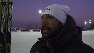 ÖFK tränar skidåkning med Anders Södergren