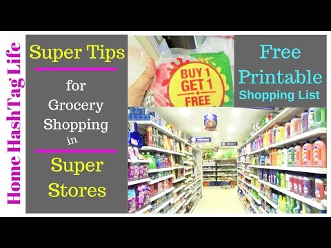 Indian Grocery Shopping List - 20 TIPS/TRICKS To Save Money | Food HashTag Life