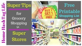Indian Grocery Shopping List - 20 TIPS/TRICKS To Save Money | Home HashTag Life