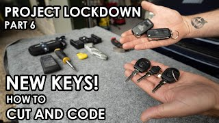 HOW TO PROFESSIONALLY CUT AND CODE NEW CAR KEYS (with bonus footage of re-casing a broken key fob)