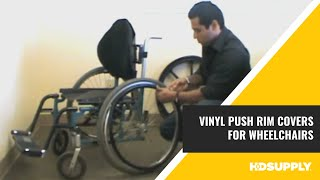 New Solutions - Vinyl Push Rim Covers for Wheelchairs -  HD Supply Facilities Maintenance