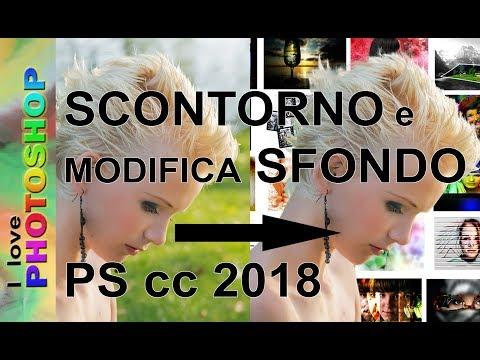 Photoshop Tutorial Italiano - Scontornare E Sostituire Sfondo Photoshop Novità Photoshop Cc 2018