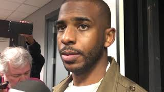 OKC Thunder - Chris Paul talks loss to Clippers (Game 13 of 82)