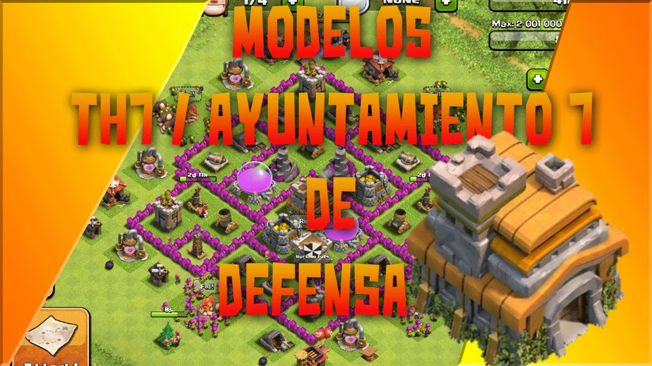 De aldea th7 para subir copas o para guerra clash of clans youtube