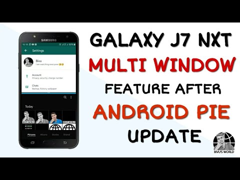 How to use Multi Window in Galaxy J7 Nxt After Pie Update !! Galaxy