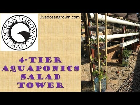 how to make a cheap easy diy aquaponics growing tower
