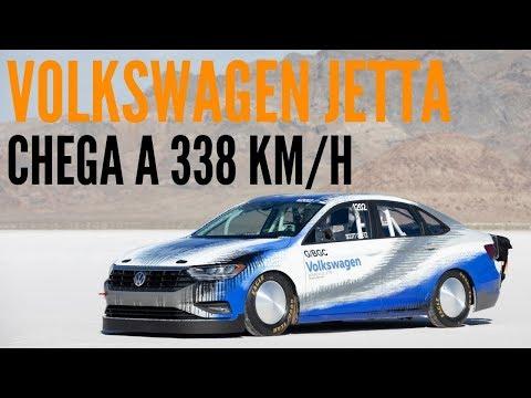 🚗 Veja o VOLKSWAGEN JETTA chegar 338 km/h em Bonneville -BlogAuto