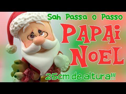 DIY - PAPAI NOEL Decorativo em Biscuit - Especial 20k de Inscritos - Sah Passa o Passo