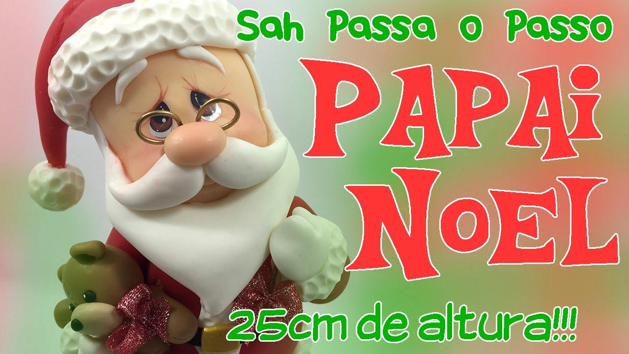 3a4a88a9a51e DIY - PAPAI NOEL Decorativo em Biscuit - Especial 20k de Inscritos - Sah  Passa o Passo - YouTube