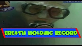 Record For Holding Breath Underwater