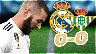 ADIEU LA LIGA POUR LE REAL ! (Real Madrid vs betis seville 0-0)