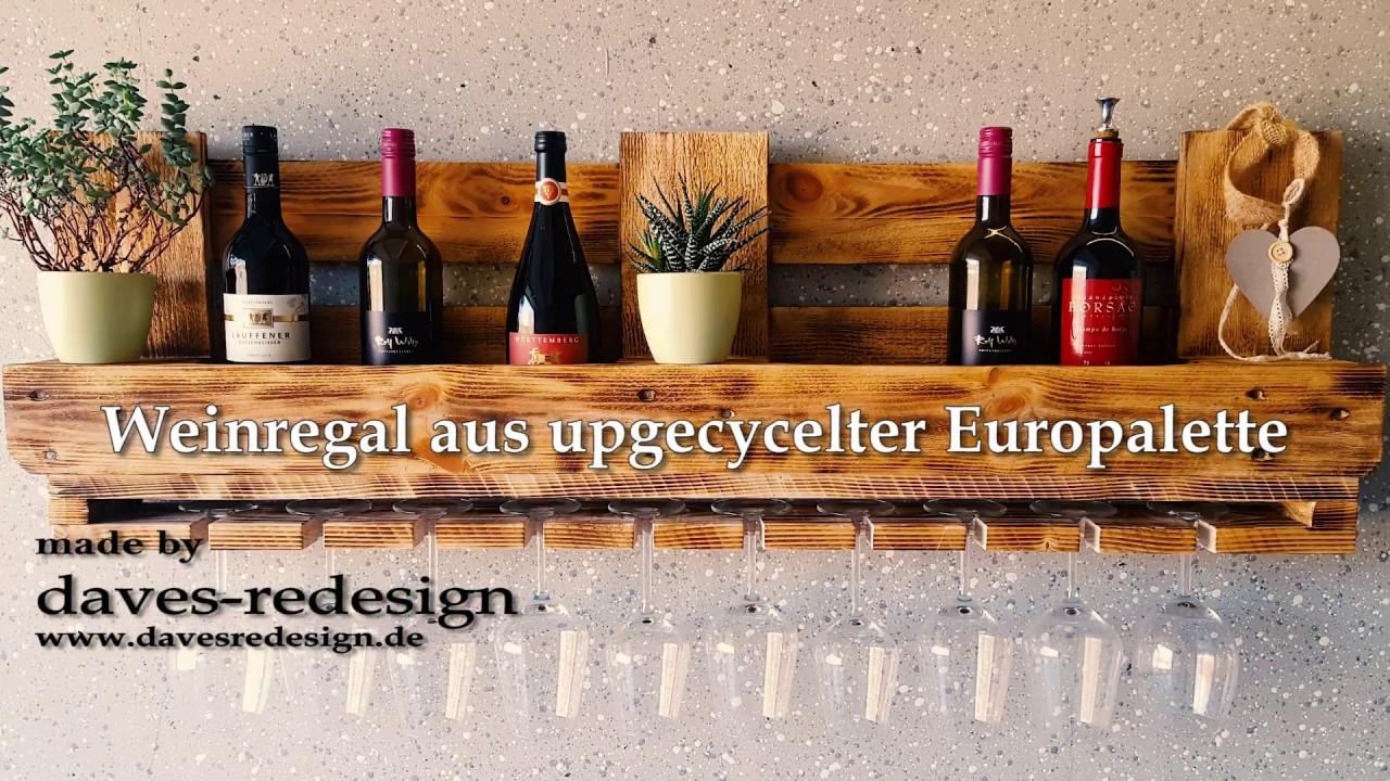 Weinregal Aus Upgecycelter Europalette