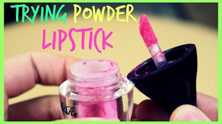 Trying Powder Lipstick?! | katerinaop22
