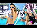 Spring Break High School You VS Child You!