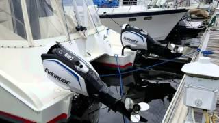 Catamaran with Blown Diesel Engine