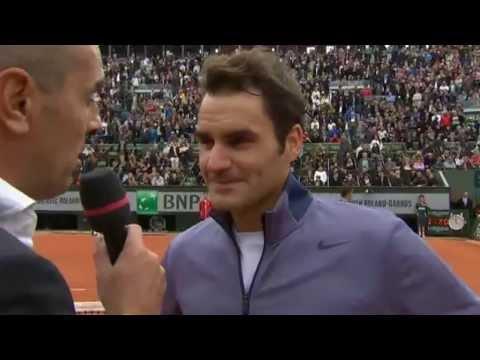 Interview: Roger Federer vs Pablo Carreno-Busta 1st round Roland Garros 2013