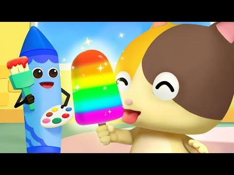 알록달록 크레파스 요정들~!|색깔놀이|learn colors|고양이동요|생활동요|음식동요|안전교육|베이비버스 인기동요|BabyBus