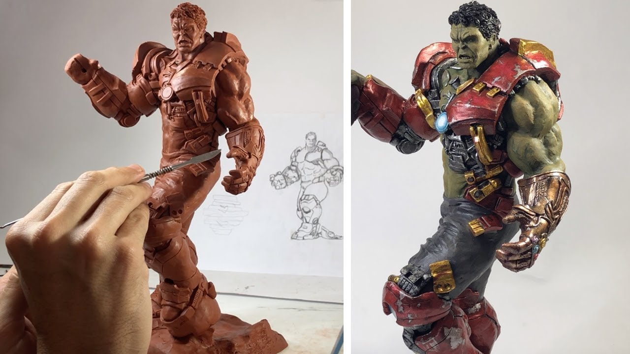 HULK ESCULPENDO Rebentando com Hulkbuster e a Manopla do Infinito | Vingadores Últimato    Game