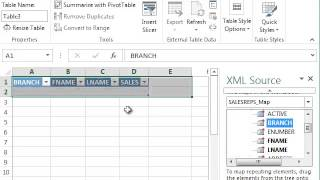 XML Example Video with Excel 2013