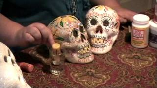 How to Make Day of the Dead Skulls with Stickles