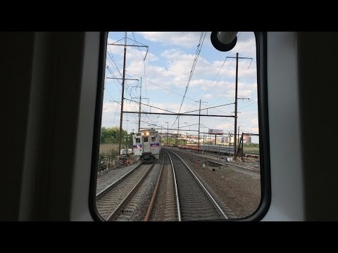 SEPTA HD 60 FPS: Hyundai Rotem Silverliner V Northeast Corridor Railfan Window Ride Timelapse 4x