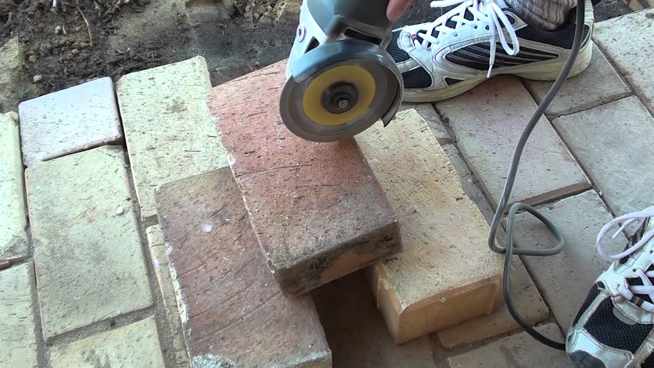 How To Easily Cut Bricks With A Portable Angle Grinder   YouTube