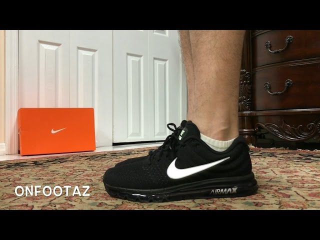Nike Air Max 2017 Black On Foot - YouTube