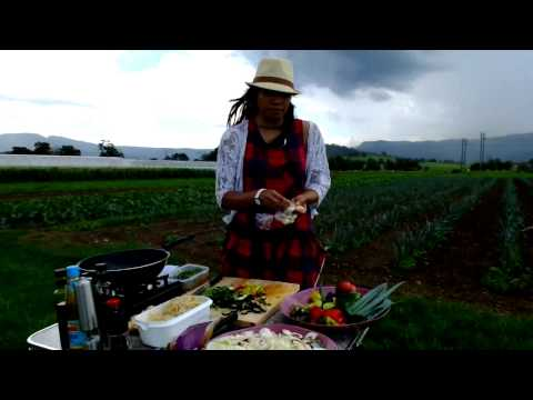 Organic Nissa -- Cooking Demonstration, Pad Thai and Mahbrook Organics Farm