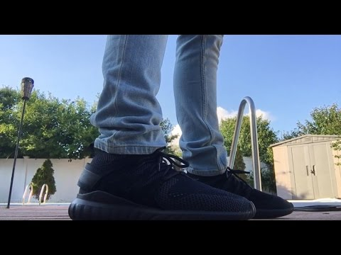 hot sale online 01019 ca2a7 ADIDAS TUBULAR NOVA PK TRIPLE BLACK REVIEW + ON FOOT LOOK