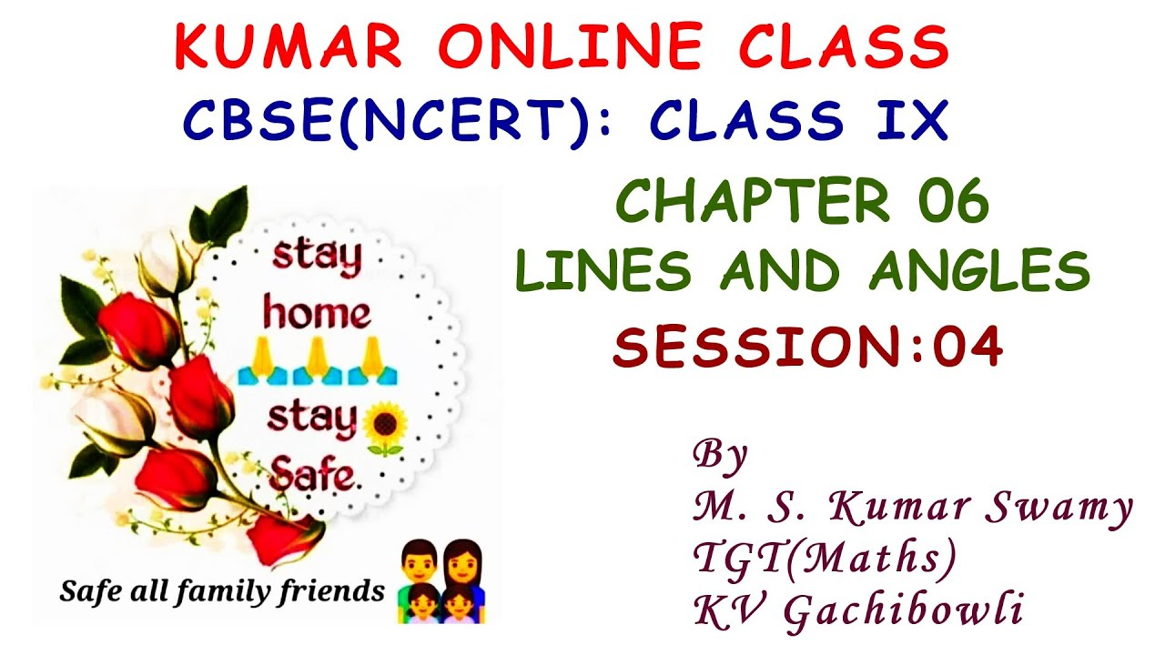 Google Meet LIVE Recording Class IX Chapter 06 Lines and Angles Session 04
