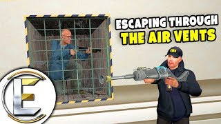 Escaping Through The Air Vents - Gmod DarkRP Life (Robbing The President's Vault)