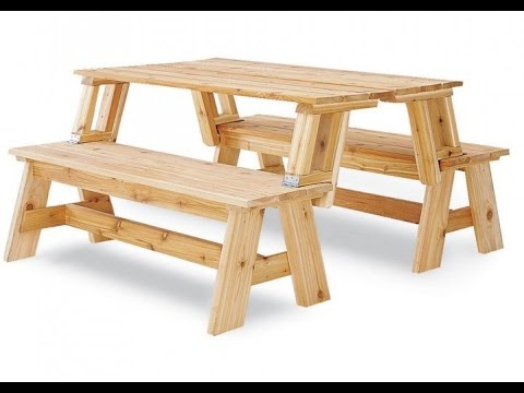 Convertible Picnic Table And Bench Ideas Youtube