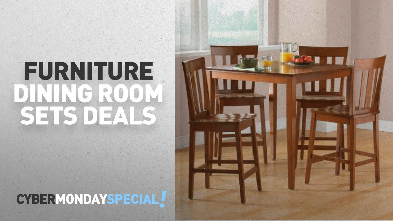 Walmart Top Cyber Monday Dining Room Sets Deals Mainstays 5 Piece Counter Height Dining Set